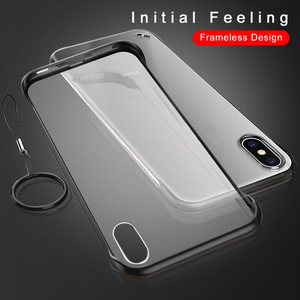 Image 2 - Frameless Case For iPhone 7 Case Transparent Matte Hard Phone Cover For iPhone XR XS Max X 7 6 6s 8 Plus With Finger Ring Case