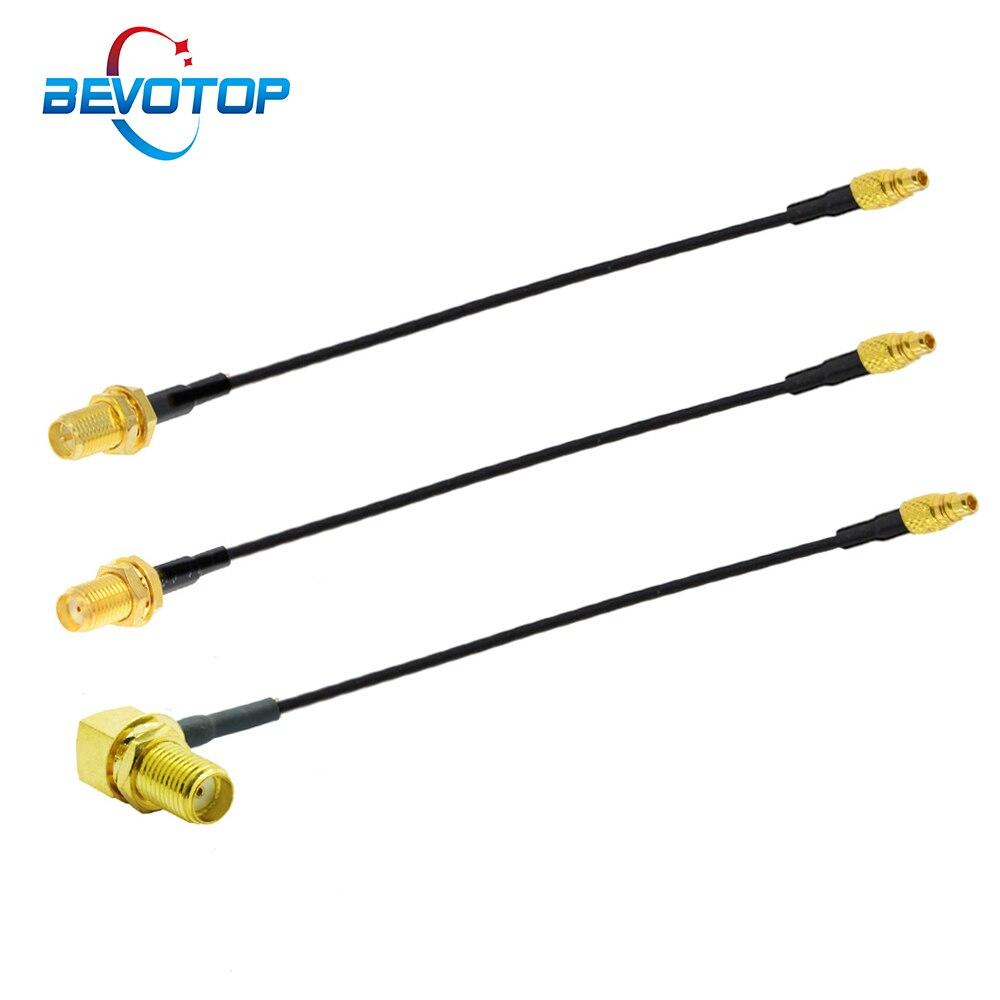 2 шт. MMCX SMA/RP-SMA Женский перегородки FPV антенна адаптер RF1.37 коаксиальный кабель-удлинитель Соединительный кабель для PandaRC Радиоуправляемый Др...