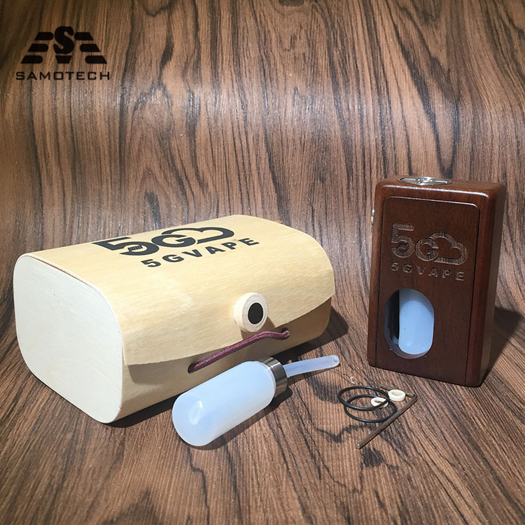 New 5gvape Wood Mod Squonk Bf Supercar Auto-tuning Box Mechanical Retro Design 18650 Battery With 8ml Squonk Bottle Vs YFTK MK5