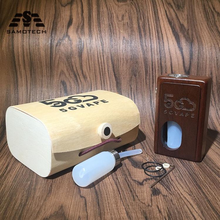 New 5gvape Wood Mod Squonk Bf Supercar Auto-tuning Box Mechanical Retro Design 18650 Battery With 8ml Squonk Bottle Vs YFTK MK5