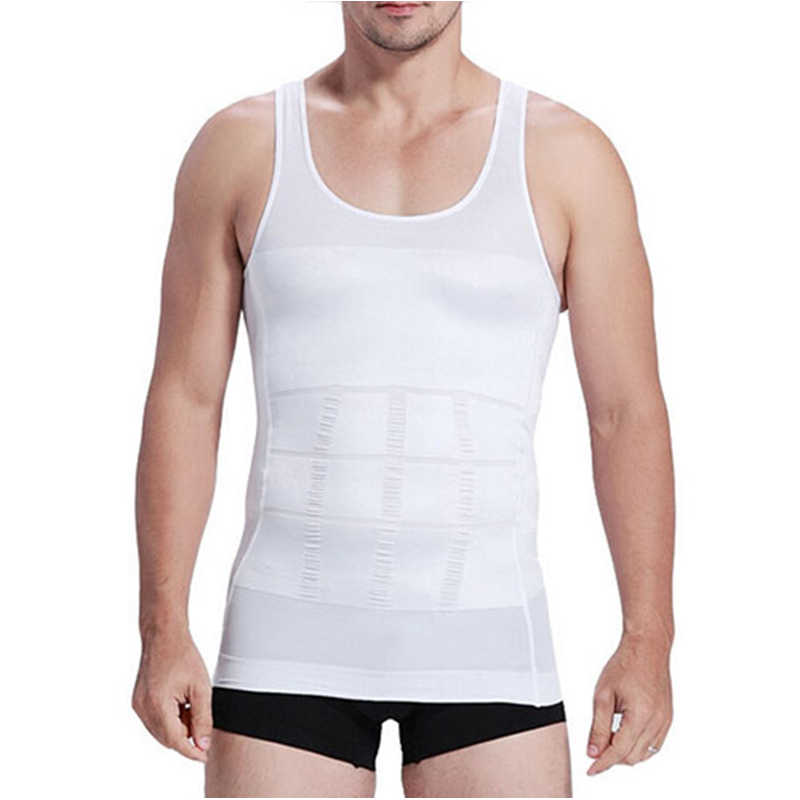 Men's  Lined Shapers Sleeveless Firm Motorcycle Base Layer  Shaper Underwear Shirt Sauna Abdomen Corset Vest car Accessories