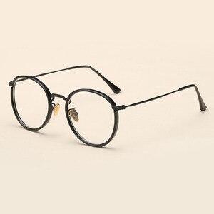Image 5 - BCLEAR Alloy TR90 Glasses Frame Men Ultralight Women Vintage Round Prescription Eyeglasses Retro Optical Frame Eyewear 2019 New