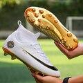 Футбольная обувь для мужчин  Футбольные Детские кроссовки для помещения  оригинальные удобные водонепроницаемые ботинки на шпильке белого...