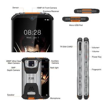 OUKITEL WP6 10000mAh 6.3'' FHD+ IP68 Waterproof Mobile Phone 6GB 128GB Octa Core 48MP Triple Cameras Rugged Smartphone 6