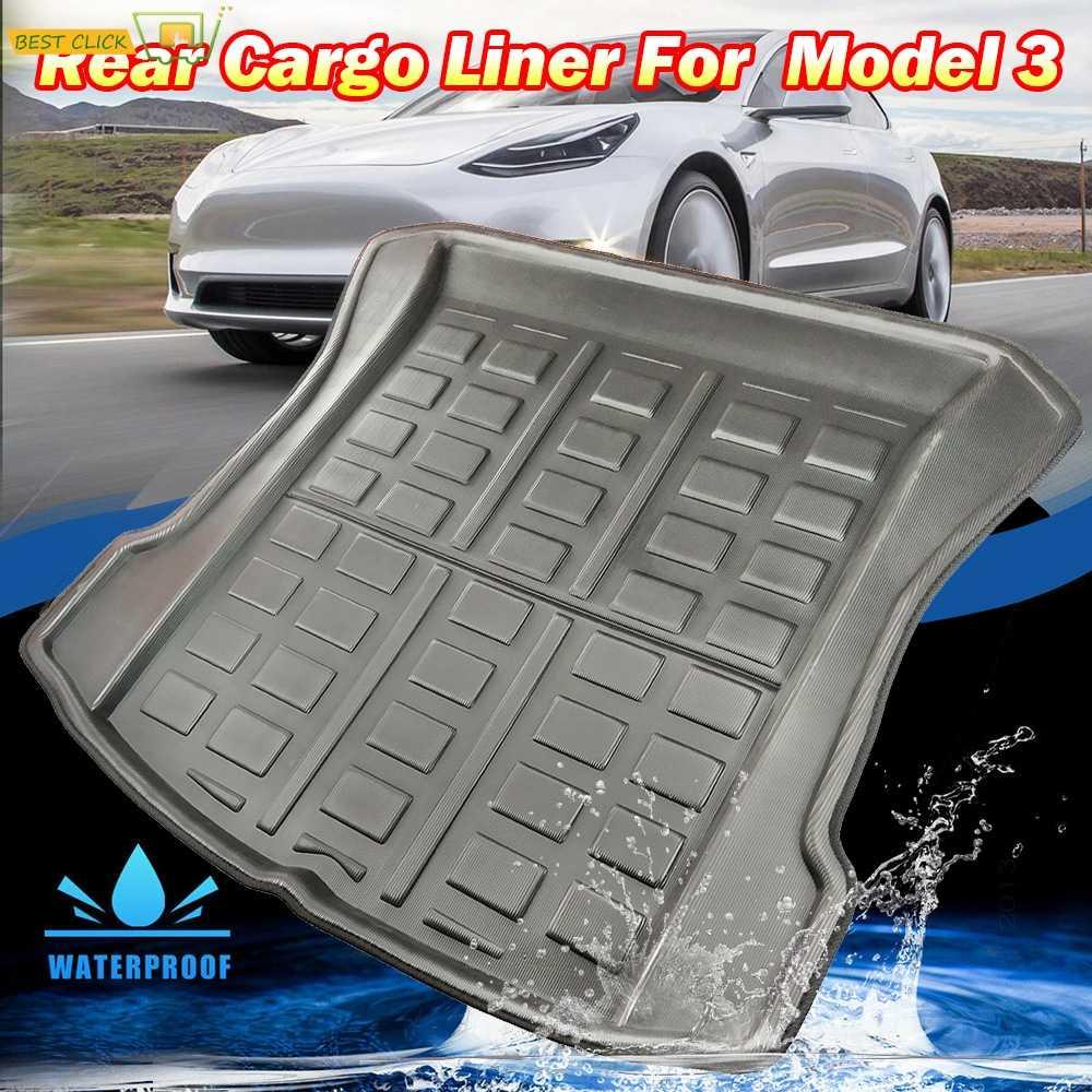 Voor Tesla Model 3 2017 2018 2019 Bluestar Achter Cargo Liner Boot Lade Kofferbak Mat Bagage Floor Tapijt Lade Waterdichte alle Weer
