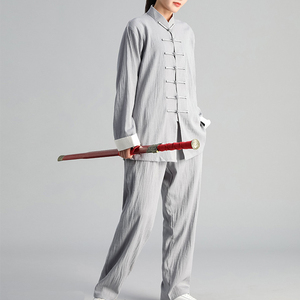 Image 3 - Autumn Winter Men Woman Tai Chi Exercise Clothing Suit Tai Chi Team Martial Arts Competition Suit Chinese Traditional Clothing