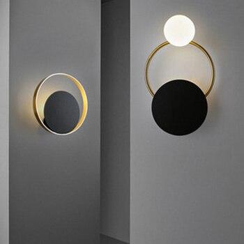 Modern LED Iron Art Glass Wall Lights Retro Loft Home Decoration Wall Lamp Cafe Restaurant Balcony Bedroom Lighting Fixtures