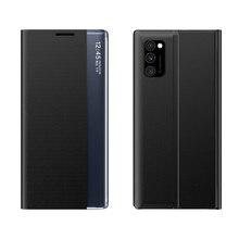 Per Samsung Galaxy A71 A51 Nota 20 Ultra Caso Astuto Della Copertura del Cuoio Finestra di Vibrazione di Caso Per Samsung S20 Più M30S m31 A31 A21S Caso