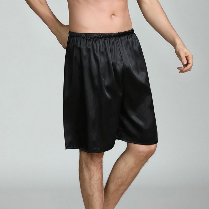 Hot Sale Men's Satin Summer 2019 New Shorts Pajamas Pyjamas Male Casual Lounge Short Pants Loose Soft Sleep Bottoms M-5XL