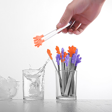 Ice-Tongs Silicone Kitchen-Gadgets Designs-Tweezers Mini with Perfect Hand-Shaped The