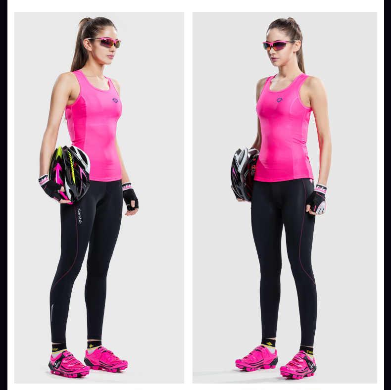 Santic ארוך רכיבה על אופניים מכנסיים נשים של מהיר יבש לנשימה אלסטי MTB כביש אופניים גרביונים חיצוני הגנת UV רכיבה מכנסיים