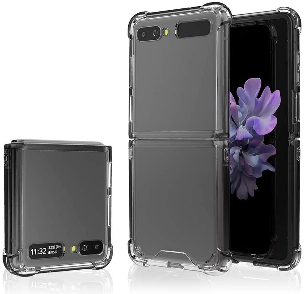 Кристально чистый чехол для Samsung Галактики Z Флип 5G прозрачный чехол все включено взрывозащищенный чехол для Galaxy Z чехол с откидной крышкой