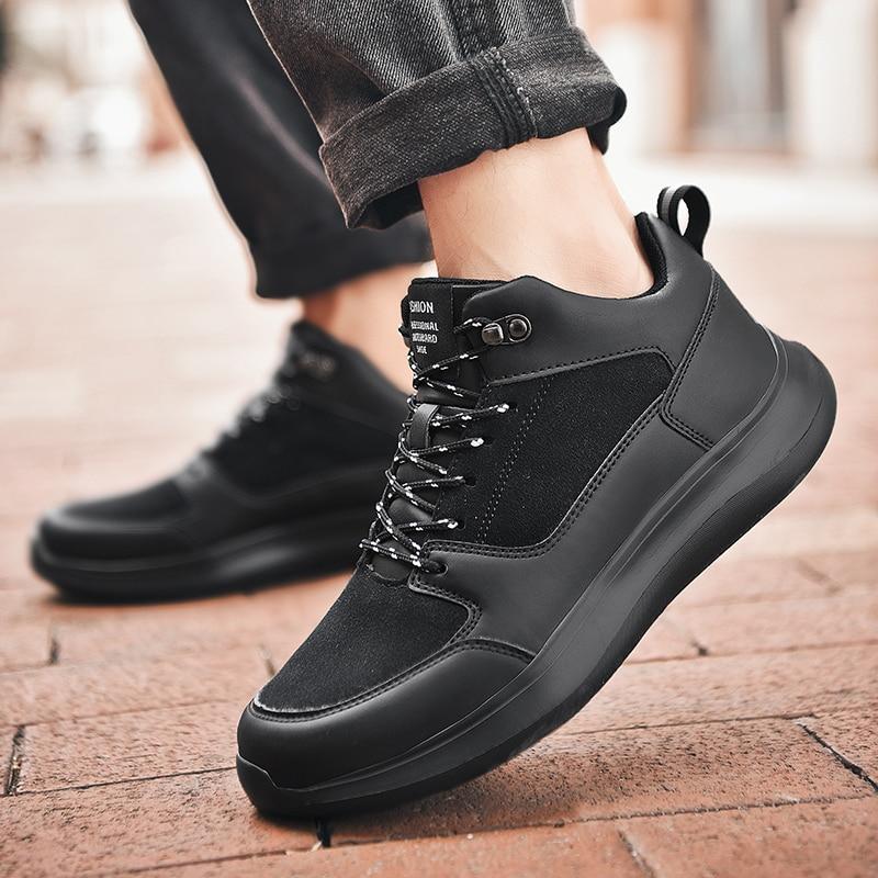 Мужская обувь для бега; зимняя спортивная обувь; мужские кроссовки из искусственной кожи; мужские дизайнерские теплые кроссовки; большой