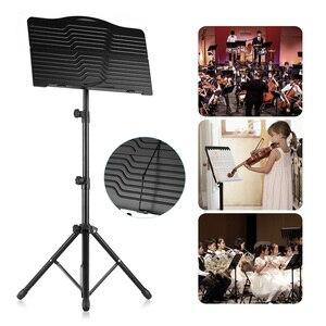 Image 1 - Portatile In Metallo Del Basamento di Musica Regolabile in altezza Staccabile Strumenti Musicali Chitarra per Pianoforte Violino Chitarra Copriletto Musica Nero