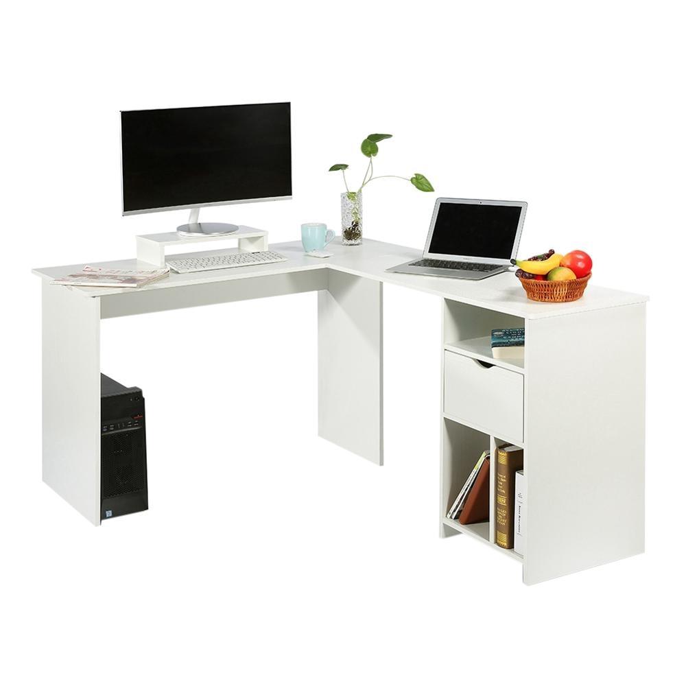 - Folding Corner Computer Desk L Shape PC Laptop Table Perfect For