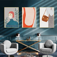 DDWW Wall Art  Nordic Illustration Canvas Painting Posters Cuadros Picture Print on Home Decor No Frame