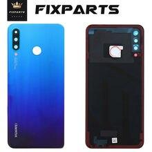 Funda trasera de cristal original para Huawei P30 Lite carcasa para puerta trasera con lente de cámara, funda para batería Huawei Nova 4e P30 Lite