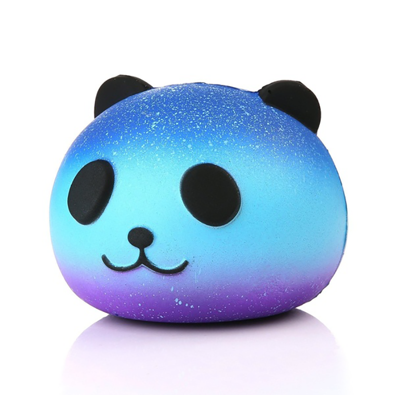 Galaxy Panda Head Slow Rising Simulation Unicorn Cat Squishy Toy Anti Stress Reliever Soft Squeeze Toy Funny Christmas Gift