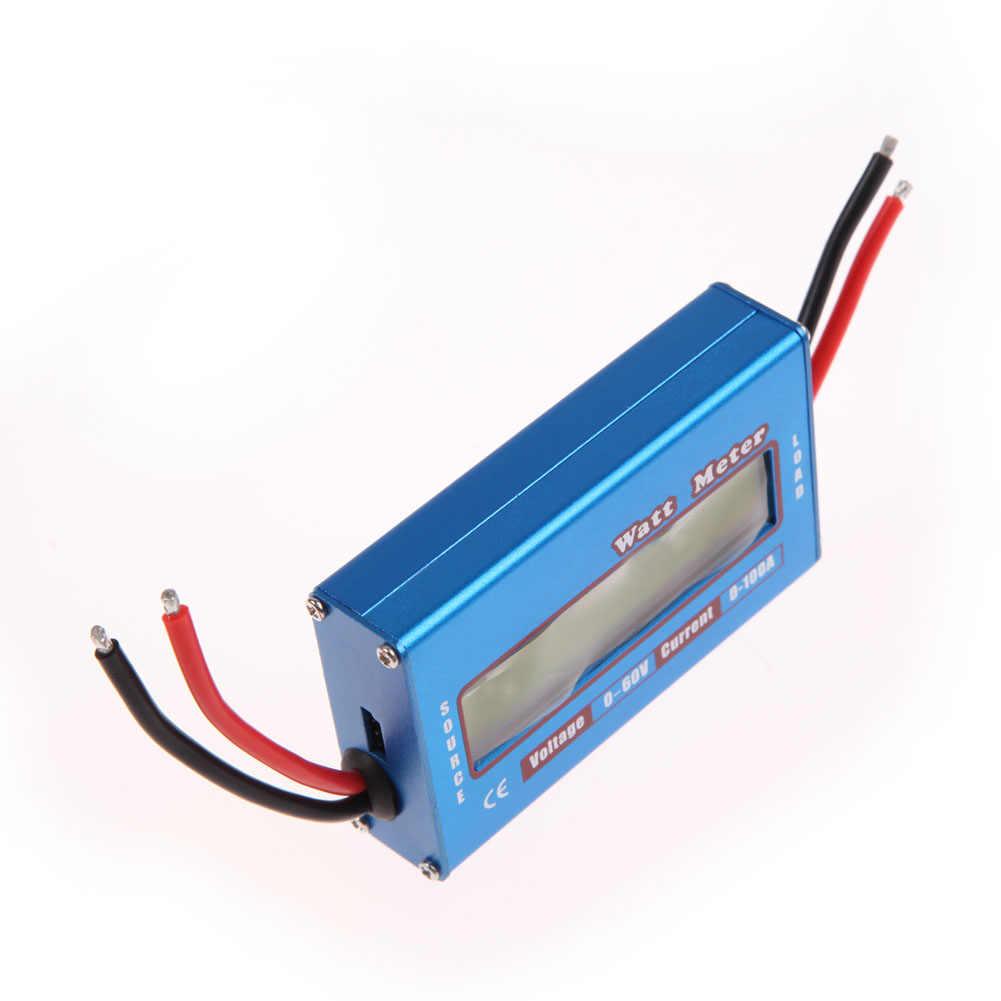 4-60V LCD Display Power Analyser Portable Digital Saat Ini Energi Meter Watt/Volt/Amp Tester Ammeter solar Wind