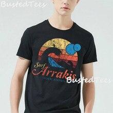 Arrakis t-shirt homme noir, Vintage en détresse, Surf Dune Sci Fi, vêtement de marque pour garçon