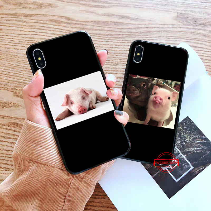 WEBBEDEPP Funny Cartoon Pig Coque Silicone Case for Huawei P8 Lite 2015 2017 P9 2016 Mimi P10 P20 Pro P Smart 2019 P30 in Fitted Cases from Cellphones Telecommunications
