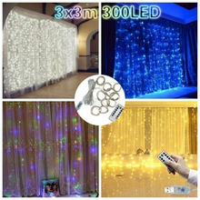 3x3M Curtain light 300 LED Window String Light for Wedding Party Home Garden Bedroom Outdoor Indoor Wall Decorations