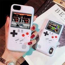 Tela colorida gameboy gb jogo tetris caso para iphone 7 caso iphone xs max caso 6s 7 8 plus x xr 7 mais 8 mais caso de telefone