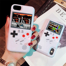 カラフルな画面ゲームボーイgbゲームテトリスケースiphone 7 ケースiphone xs最大ケース 6 6s 7 8 プラスx xr 7 プラス 8 プラス電話ケース