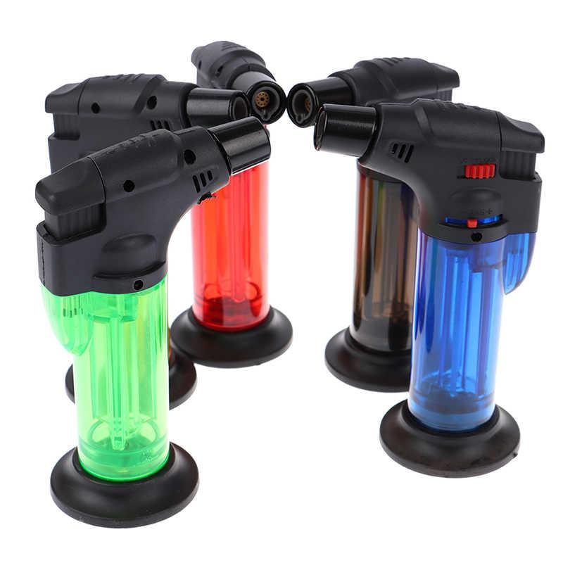 BBQ Dapur Las Lebih Ringan Butane Jet Gas Lighter Turbo Portable Spray Gun Windproof Cigar Pipa Lebih Ringan Outdoor