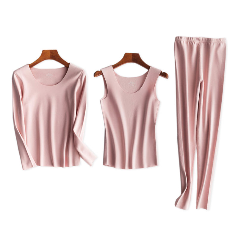 Genuine Dralon Simple Super Thermal Underwear Women Pajamas Seamless Winter Keep Warm Women Sleepwear Top Bottoms N600