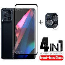 4 in 1 For OPPO Find X3 Pro Glass For Find X3 Pro Phone Film HD Protective Glass Screen Protetor For Find X3 Pro Camera Len Film