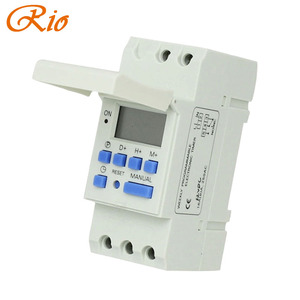 Free shipping CE DIN RAIL DIGITAL 16 sets PROGRAMMABLE TIMER SWITCH AC 220V / 110V ,DC 12V 16A 25A GOOD temporizador Din Rail(China)