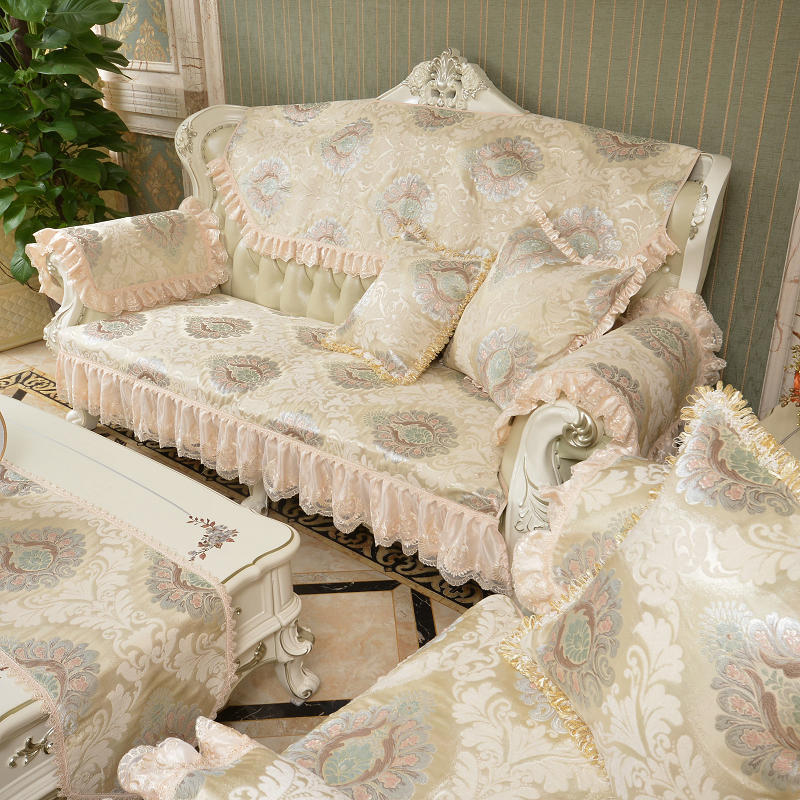 European Embroidery Sofa Cover Chinese