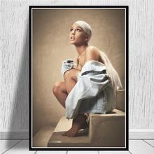 ArianaGrandeSweetener USA 2018 Album muzyczny gwiazda popu plakat na płótnie malarstwo ścienne drukowany obraz zdjęcia do salonu Home Decor tanie tanio CN (pochodzenie) Płótno wydruki Pojedyncze Olej Animacja Unframed Nowoczesne 2512 Malowanie natryskowe Poziome Prostokąt