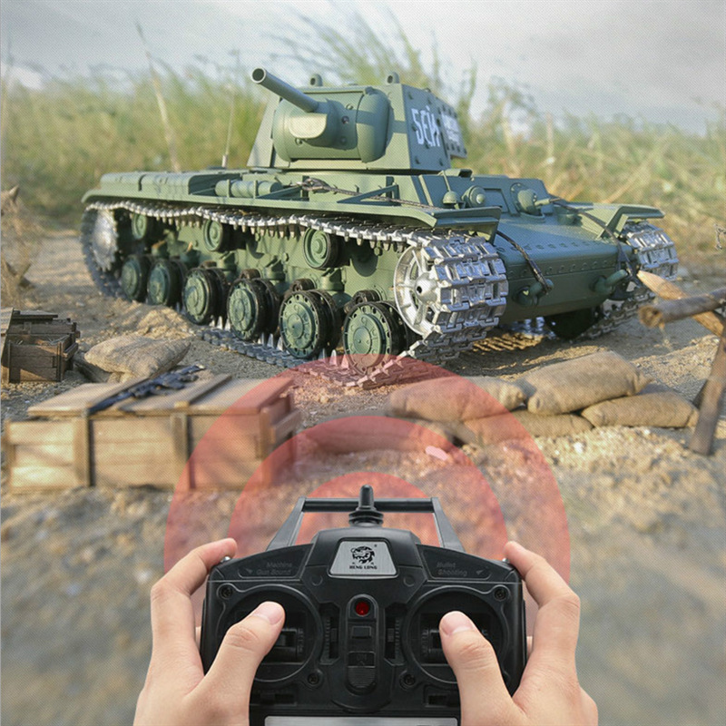 HL Soviet Union Kv-1 Remote Control Tank Model Toy Remote Control Car Toy Car Children Military Model Boy