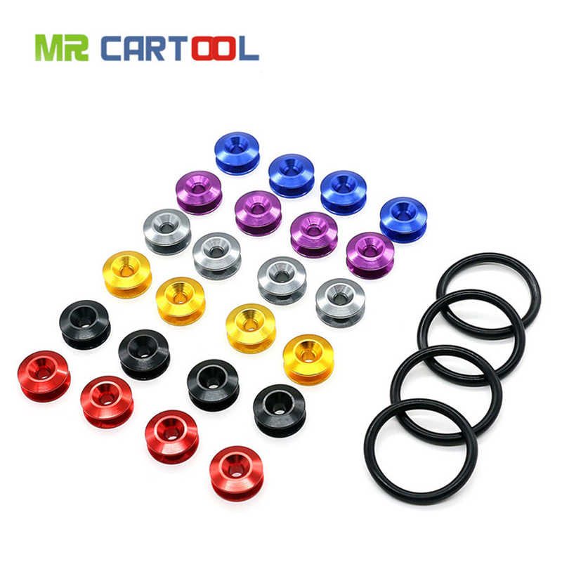 מר Cartool רכב פגוש הר שחרור מהיר פגושים אוטומטי כרום אטב עבור JDM ניאו תא מטען פגוש הפתח מכסים ערכת 6 צבע זמין