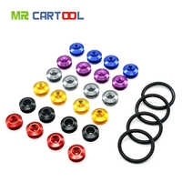 Mr Cartool Car Bumper Mount Quick Release Bumpers Auto Chrome Fastener For JDM Neo Trunk Fender Hatch Lids Kit 6 Color Available