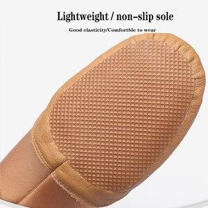 Image 5 - Dans Sneakers Latin dans ayakkabıları Femme yumuşak taban bale ayakkabıları elastik bant bayanlar caz balo salonu dans ayakkabı kız EU 34 44