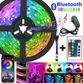5050 LED Strip Bluetooth Control 2835 5050 RGB Led Waterproof Led Flexible Light for Home Living Room Outdoor Decorative Lights
