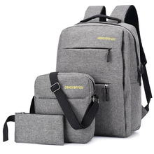 Men Casual Travel Backpacks Large Capacity USB School Bags for Teenagers Multi-functional Anti-theft Laptop