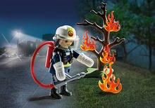 9093 de alta qualidade do bombeiro extintor de incêndio kit polly bolso bloco de construção