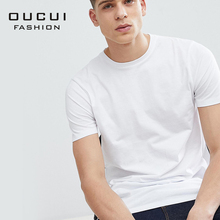Quality Soft T Shirt Men Breathable 95% Cotton 5% Spandex Fashion Summer Off White O-neck T-Shirt OL-ST-IC-O-A-01-170