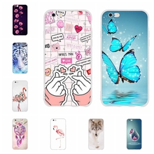 For Apple iPhone 5 5s SE Case Ultra-slim Soft TPU Silicone 6 6s Cover Cat Pattern Capa