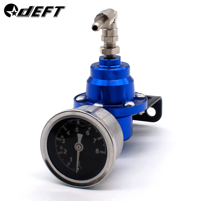 DEFT Fuel Pressure Regulator With Original Gauge Kit and instructions Universal Adjustable Aluminum Fuel Pressure Regulator