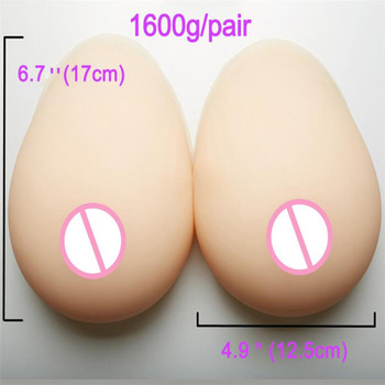 2019 New 1600g Realistic Silicone Breast Forms for Crossdresser Transvestite Drag Queen Fake Boobs Mastectomy Health Enhancer