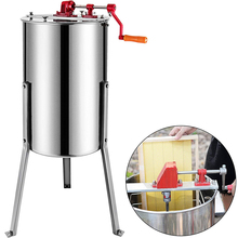 VEVOR 3 Frame Manual Honey Extractor Stainless Steel Honeycomb Spinner Crank Bee Honey Centrifuge Beekeeping Equipment Supplies