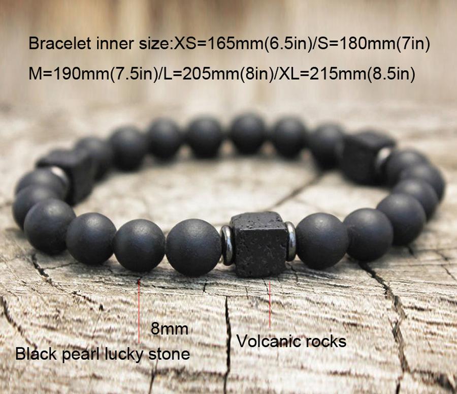 H8cad2f3230f14c5b97b887de1ae88ef10 Men Bracelet Natural Matte Stone Hematite Beads Bracelets