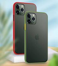 7002 115 boîtier transparent givré pour iphone11 pro couverture arrière de protection