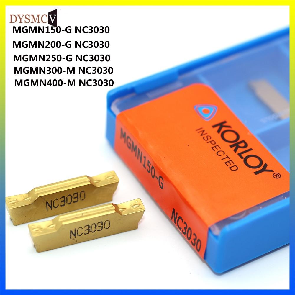 KORLOY MGMN150 MGMN200 MGMN300 MGMN400  NC3030  Grooving Tool CNC Slotted Carbide Metal Turning Lathe Tools