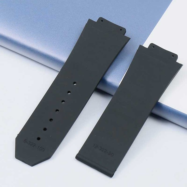 New rubber waterproof and sweat-proof men's watch belt for Hublot casual series 29mmx19mm ladies silicone watch accessories 2